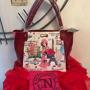 Nicole Lee Shopping Girl Tote Bag